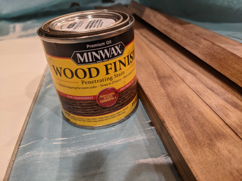 Can of wood stain.