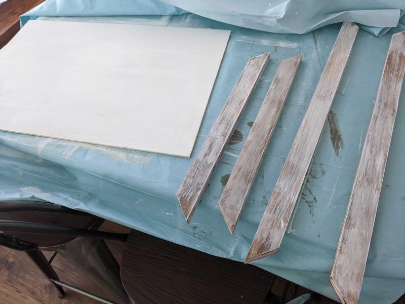 Painted wood.