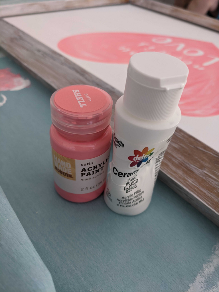 Two bottles of paint